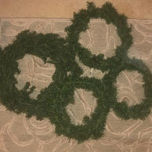 Other - NWT🎄HOLIDAY WREATHS🎄Faux evergreen wreath bundle